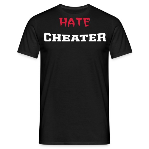 Hate Cheater - Herre-T-shirt