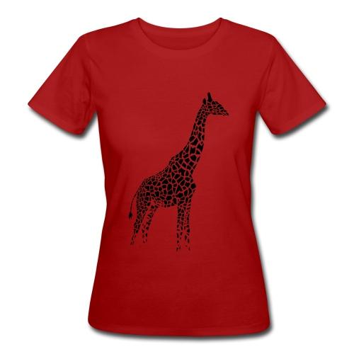Red giraffe shirt - Women's Organic T-Shirt