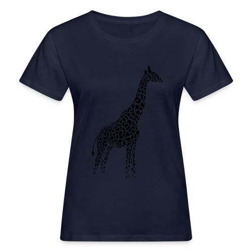Navy blue giraffe shirt - Women's Organic T-Shirt