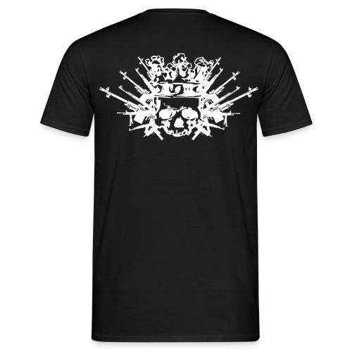 KNOCKOUT T Shirt +Rücken WEAPON / KRONE - Männer T-Shirt