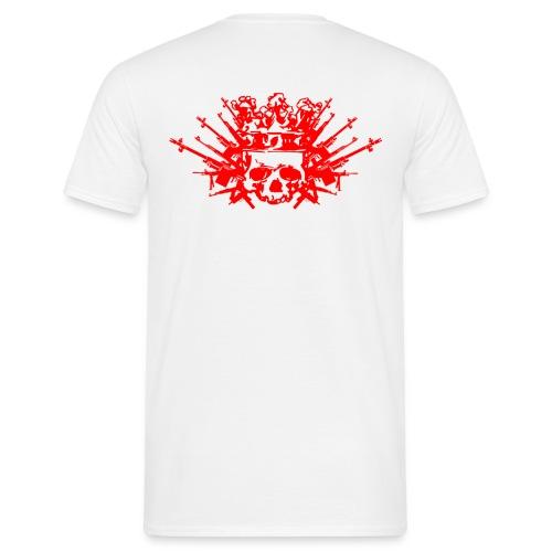 KNOCKOUT T Shirt +Rücken WEAPON / KRONE ROT - Männer T-Shirt