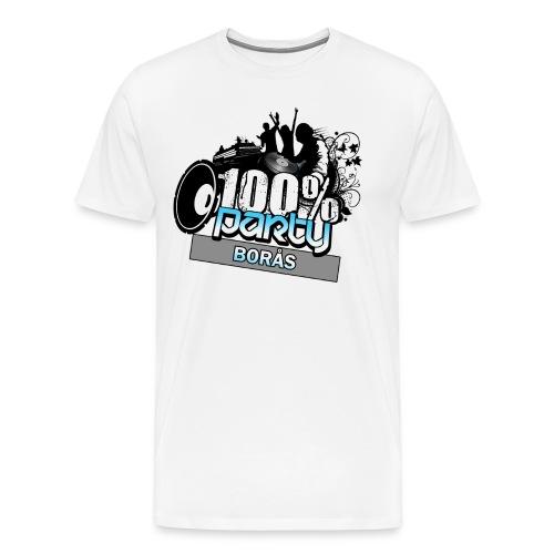 100% BORÅS - Premium-T-shirt herr