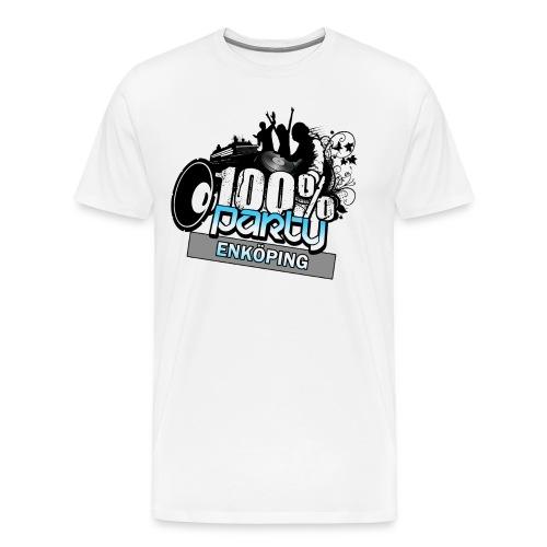 100% ENKÖPING - Premium-T-shirt herr