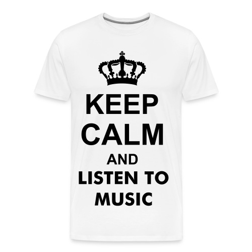 Maglietta KEEP CAL AND LISTEN TO MUSIC - Maglietta Premium da uomo
