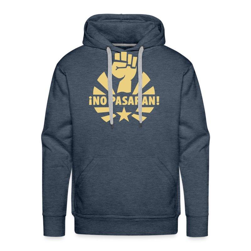 No Pasaran Fist Hoodie - Men's Premium Hoodie