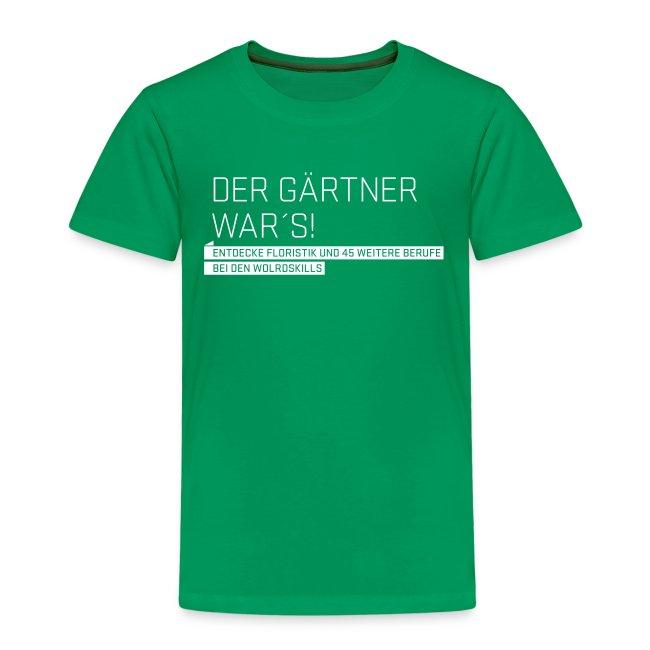 Der Gärtner war's Kids' T-Shirt