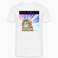 Unicorn Rainbow Cat Men's T-Shirt
