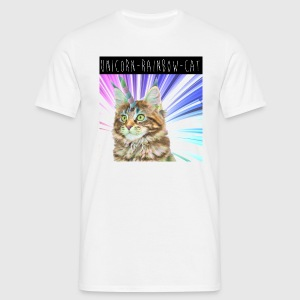 Tee shirt Homme Unicorn Rainbow Cat - T-shirt Homme
