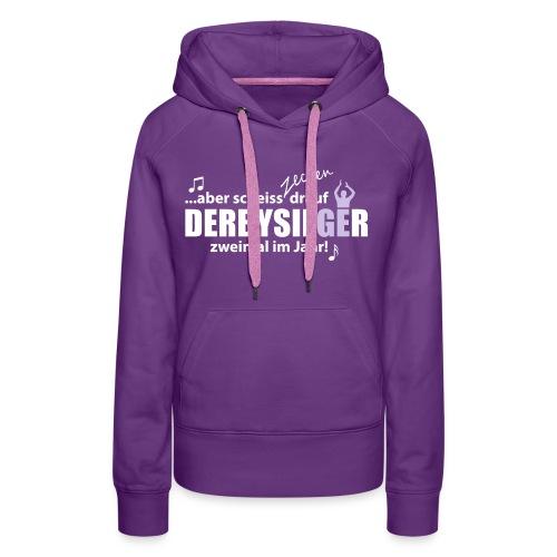 DERBYSIEGER - Motiv 2-farbig weiß/flieder - Frauen Premium Hoodie