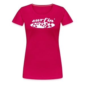 Surfboard Hawaii T-shirt Frauen - Frauen Premium T-Shirt