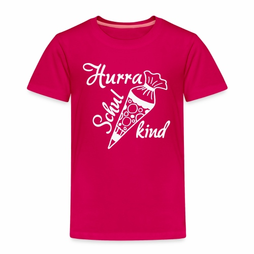 Hurra Schulkind, Schulanfang, Schultuete - Kinder Premium T-Shirt