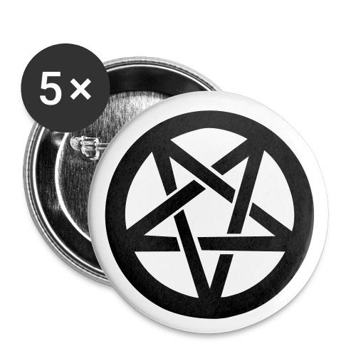 Przypinka z Pentagramem - Przypinka duża 56 mm