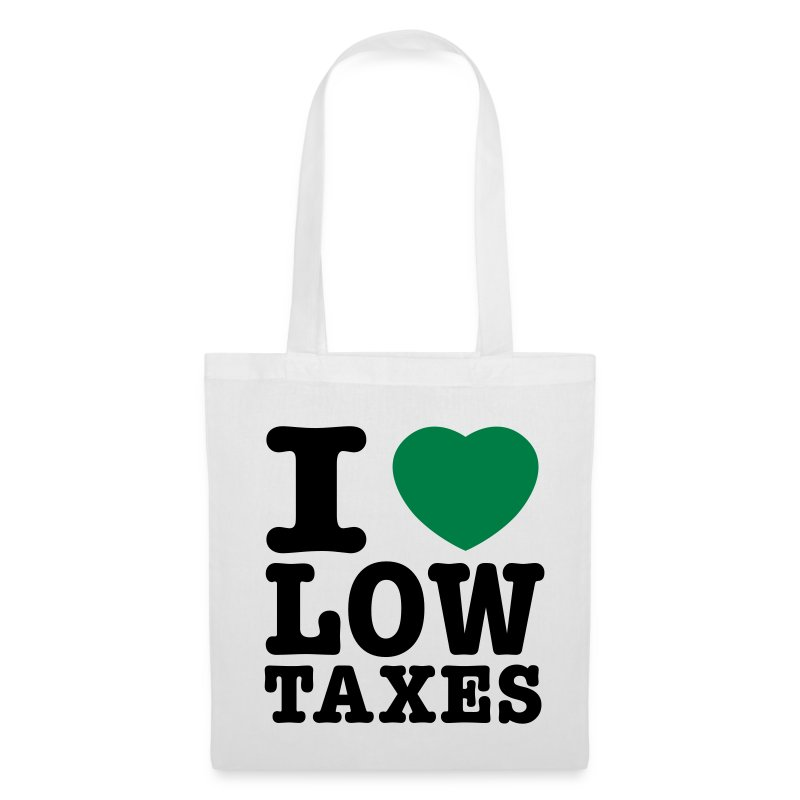 i_love_low_taxes_cmyk_2_spots_2 - Tote Bag