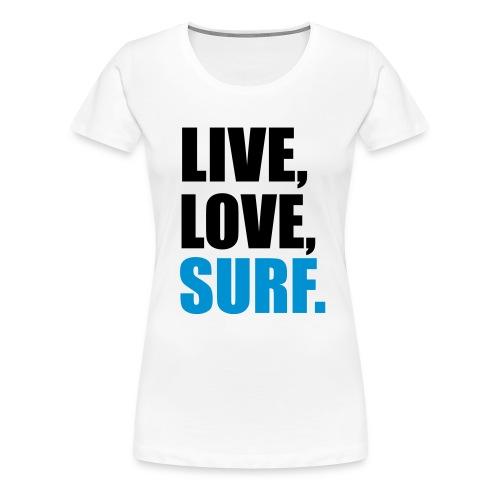 Live Laugh Surf Womens  - Women's Premium T-Shirt