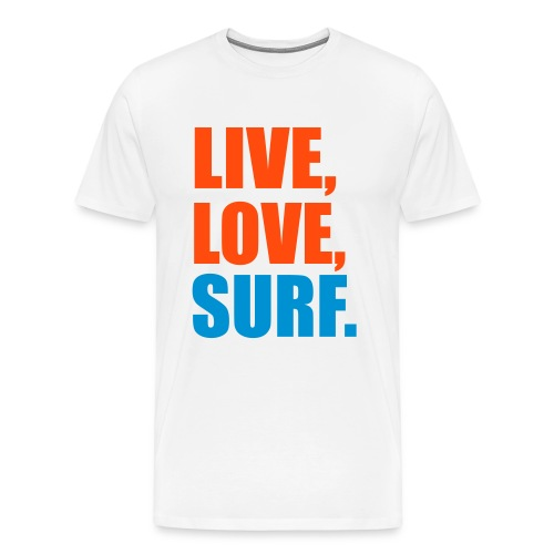 Live Laugh Surf Mens  - Men's Premium T-Shirt