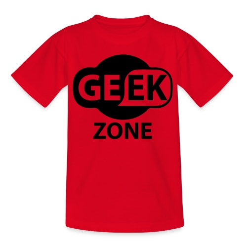 U are now entering the Geek zone - Teenage T-Shirt