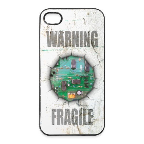 warning fragile - coque pour portable - Coque rigide iPhone 4/4s