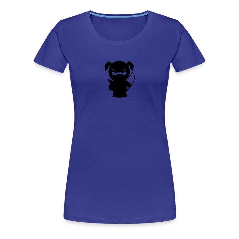Ninjamädel mit Pfeil und Bogen - Frauen Premium T-Shirt