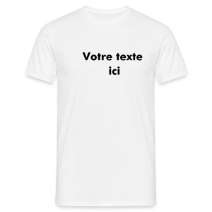 T-Shirt Perso Blanc - T-shirt Homme