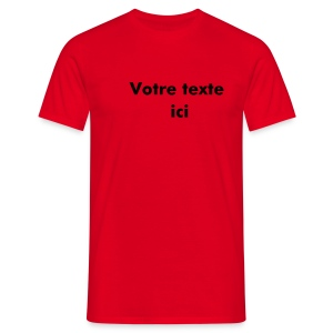 T-Shirt Perso Rouge - T-shirt Homme