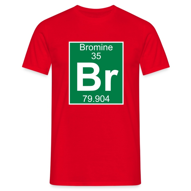 periodic table words bromine br element 35 full 2 col shirt