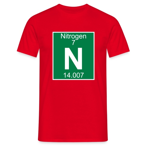 Nitrogen (N) (element 7) - Full 2 col Shirt - Men's T-Shirt
