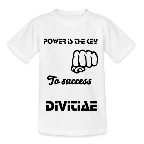 Teenage T-Shirt - Power is key to success Divitiae t-shirt, great quality t-shirt for teens.