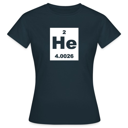 Helium (He) (element 2) - short invert Shirt - Women's T-Shirt