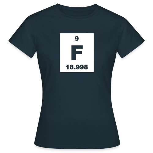 Fluorine (F) (element 9) - short invert Shirt - Women's T-Shirt