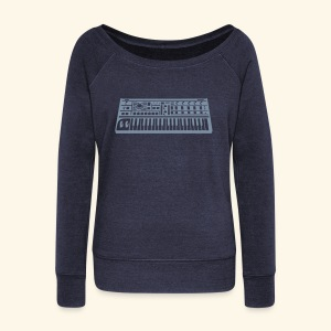 Synthesizer Boat Neck Long Sleeve Top - Women's Boat Neck Long Sleeve Top