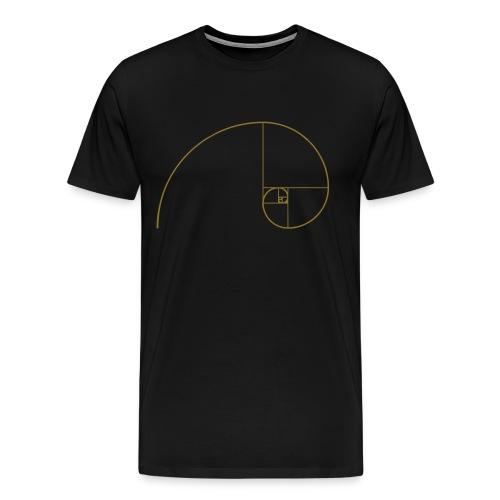 Goldene Spirale - Männer Premium T-Shirt