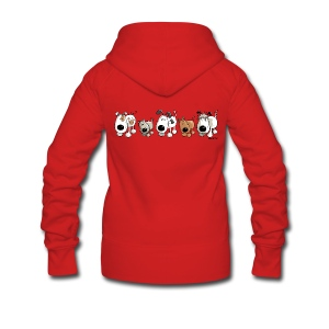 Funny Dogs - Dog - Doggy - Cartoon - Women's Premium Hooded Jacket