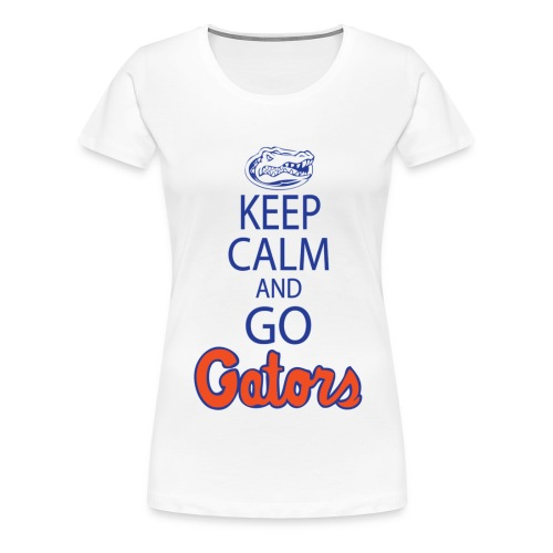 Keep Calm London Gator Club (White or Grey) (Women's) - Women's Premium T-Shirt