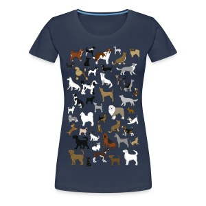 many dogs pixel T-Shirts - Women's Premium T-Shirt