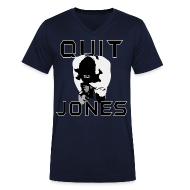 T-Shirts ~ Men's V-Neck T-Shirt ~ Quit Jones VNECK