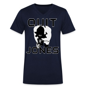 Quit Jones VNECK - Men's V-Neck T-Shirt