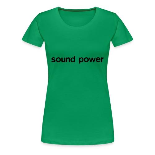 sound power 1 - Women's Premium T-Shirt