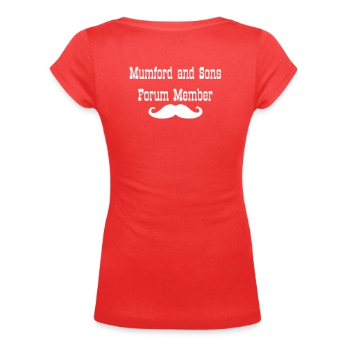 Western Type with Mustache - Women's Scoop Neck T-Shirt