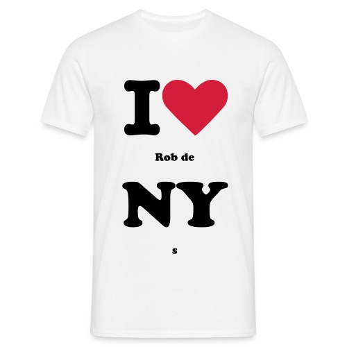 I love Rob de NYs - Mannen T-shirt