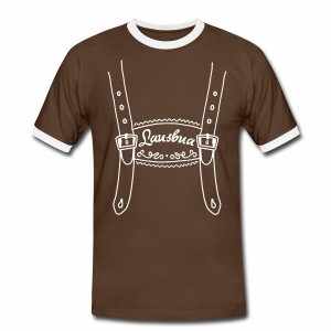 Lausbua Lederhose, Tracht, Allgäu - Männer Kontrast-T-Shirt