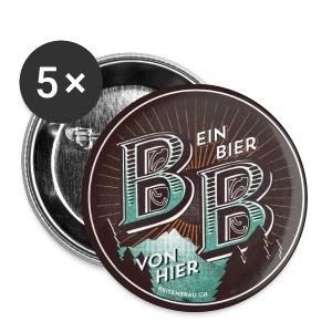 Brisenbräu zum anstecken - Buttons mittel 32 mm