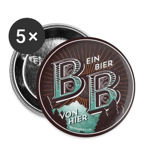 Brisenbräu zum anstecken - Buttons mittel 32 mm (5er Pack)
