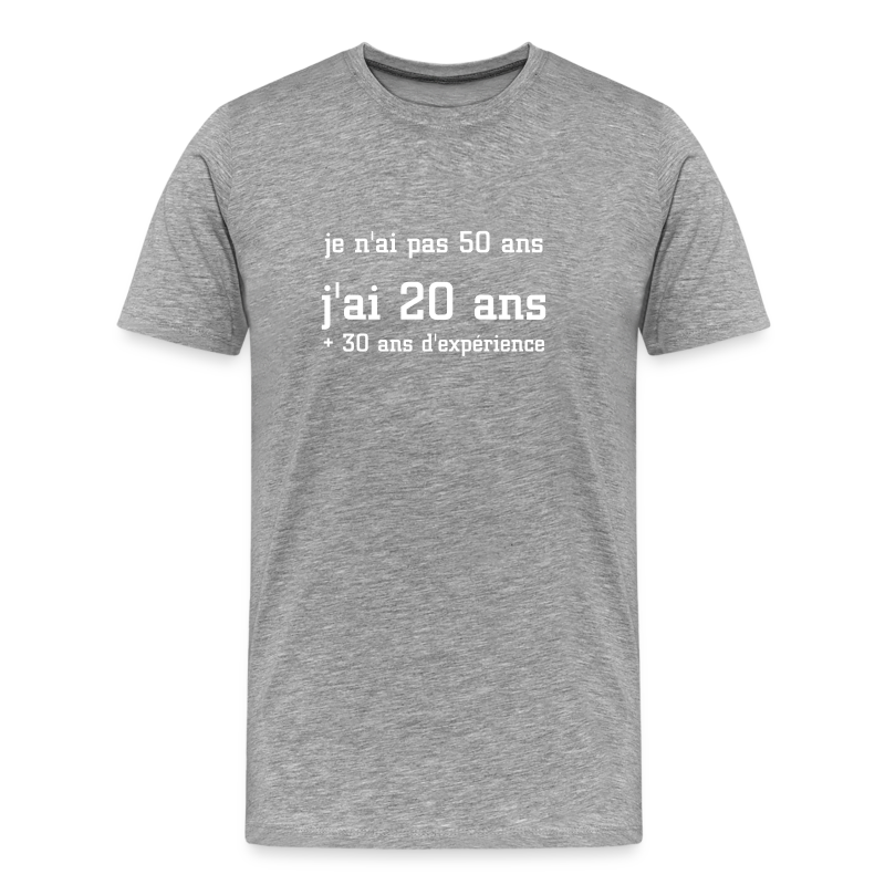 tee shirt je n 39 ai pas 50 ans t shirt anniversaire naissance 10 20 30 40 50 60 70 80. Black Bedroom Furniture Sets. Home Design Ideas
