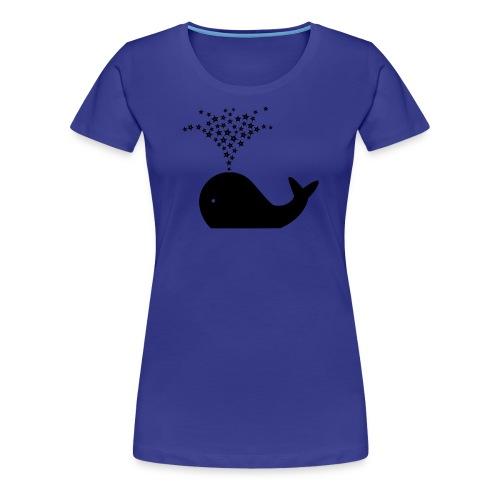 Ninjasterne speiender Wal - Frauen Premium T-Shirt