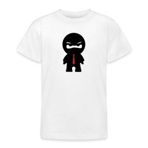 Ninja mit roter Krawatte - Teenager T-Shirt