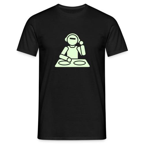 DJ - Leuchtet im Dunkeln - Männer T-Shirt