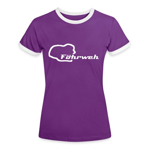 Frauen Retro T-Shirt Föhrweh - Frauen Kontrast-T-Shirt