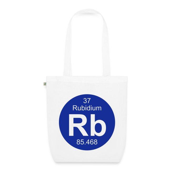 Periodic Table Words Rubidium Rb Element 37 Full Round