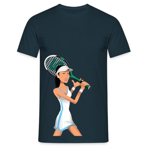 Stick Tennis - Tennis Girl 1 - Men's T-Shirt