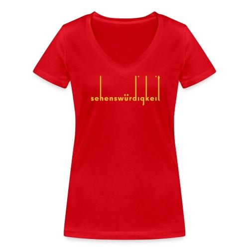 Sehenswürdigkeit - Frauen Bio-T-Shirt mit V-Ausschnitt von Stanley & Stella
